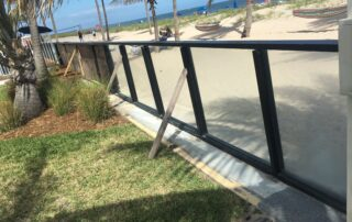 glass fence install